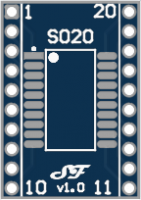 SOIC20 or TSSOP20 to DIL Adapter