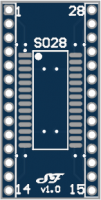 SOIC28 or TSSOP28 to DIL Adapter